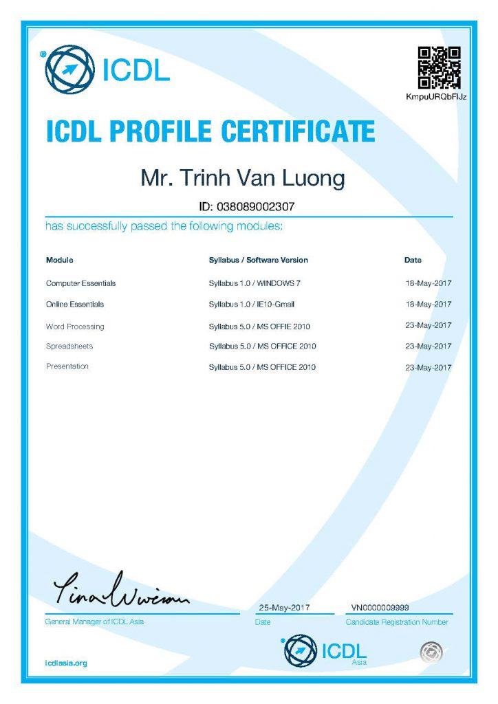 Individual Profile VN0000009999 5module